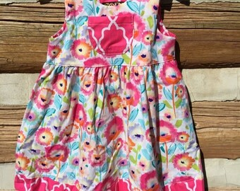 Little Girls Summer Beach Dress, Back To School Dress, Sundress, Summer, Beach, Toddler Dress, Boutique Dress, Floral, Flower Print Dress