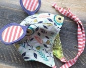 wildThings caps ear flap avaitor bombardier animal cap costume hat bonnet OOAK infant/baby size 0-14m in great green garden (by UB2)