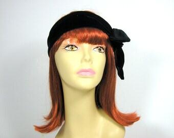 70's Black Velvet Scarves Black Velvet Scarf Retro Black Velvet Scarves Skinny Black Velvet Scarf Velvet Headscarves Narrow Velvet Scarf