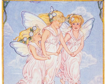 Morning Glory Fairies greeting card