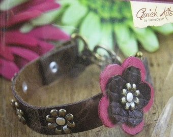 TierraCast DIY Leather Bracelet Kit Blossom Bracelet All Materials Included