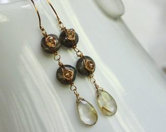 Golden River earrings