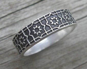 Isidore Ring Sterling Silver Band MADE TO ORDER