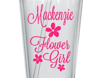 DIY Personalized Flower Girl or Ring Bearer Tumbler Decal, Wedding Party Tumbler Decal, DIY Wedding Decal,Cups NOT Included