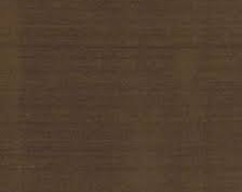 """Silk dupioni fabric, 1 1/8yds,  44"""" wide, Brownie brown, sold by the yd, bridal, sewing supply, apparel, fashion material, wedding, remnant"""