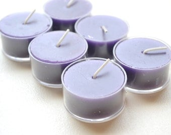 Purple tealight candles for weddings reception centerpieces and parties Pack of 12
