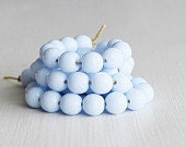 50 Periwinkle Blue Smooth 6mm Czech Glass Rounds