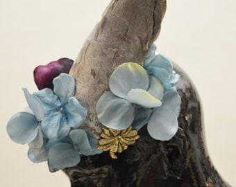 ON SALE! Dusty Bloom Dove Wing Fascinator