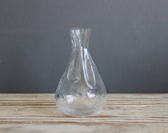 Sweden Sea Glasbruk Glass Pouch Sack Vase