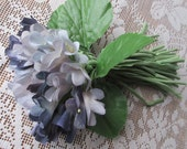 Vintage Millinery Violets Bouquet Fabric Flowers Blue Ombre  VF 076