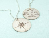 Inspirational Necklace - Compass Necklace - Graduation Gift - Nautical Jewelry - Personalized Necklace - Inspirational Jewelry