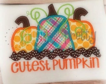 Cutest Pumpkin Applique Design
