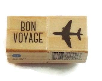 Mini  Rubber Stamp Set -  Bon Voyage
