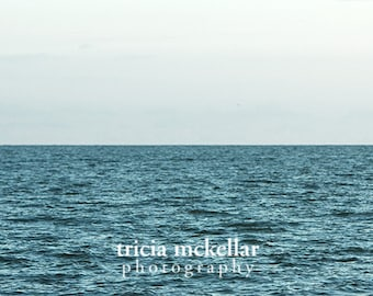 "Large Print Minimalist Ocean Photograph, 40x60"", Monochromatic, Uninterrupted, Fine Art Photography Print by Tricia McKellar (No. 9206)"