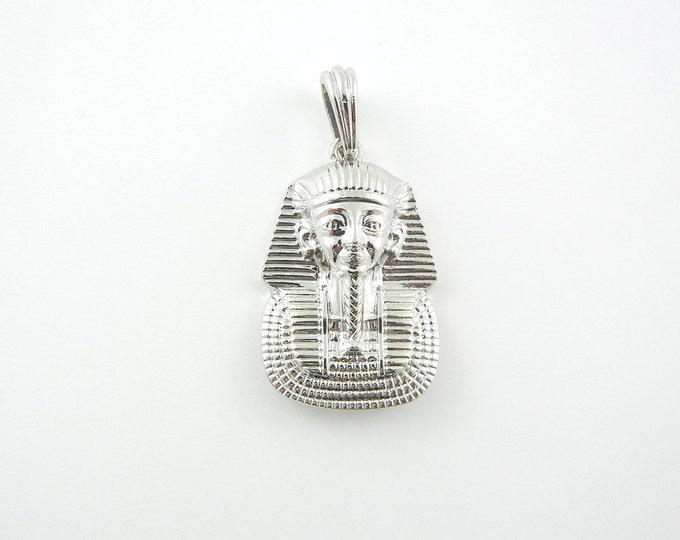 Silver-tone King Tut Pendant
