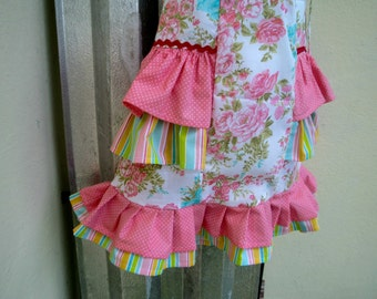 RUFFLES AND FLORAL Pillowcase dress