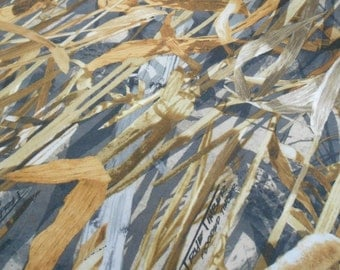 "TRUE TIMBER 100% polyester camo camouflage fabric Flooded Timber Ovation 56""w"