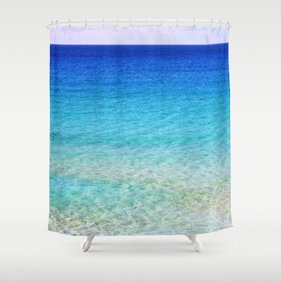 Home decor nautical shower curtain nature shower curtain surf happy