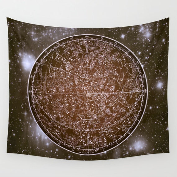 Zodiac Star Map Tapestry, Vintage Star Map Large Size Wall Art, Astronomy Decor, Office Decor, Ancient Map, Astrology,Star Sign, Horoscope