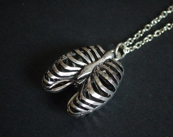 3D rib cage necklace