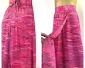 80s Wrap Skirt, Hot Pink Skirt, Vintage 80s Liz Claiborne Skirt, Adjustable Waist Tie Waist Skirt Fuscia Pink 80s Skirt Secretary Miami Vice