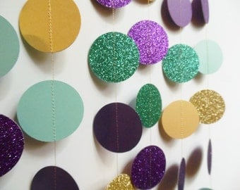 Unavailable listing on etsy for Gold dot garland