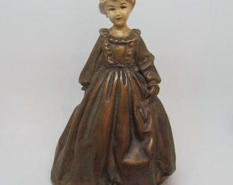 Vintage Colonial Lady Figurine