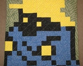 Black Mage Quilted Pillow Cover - free shipping