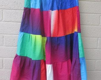 rainbow halloween costume skirt, clown costume, great for costume