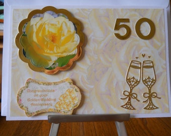 Lovely Golden wedding aniversary card