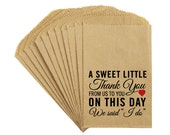 "Wedding Favor Candy Bags - Antique Victorian Rustic Cottage Chic Wedding ""Sweet Thank You"" Kraft Candy Buffet Bags Favor Bags Treat Bags"