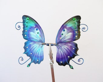 1/15 OOAK Butterfly wings for Dolls - Atenys - Blue Purple
