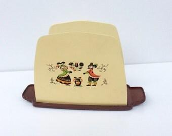 VTG Plastic Napkin Holder // Paper Napkins // Camping // Kitchen Storage
