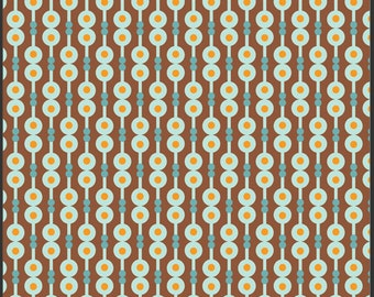 Art Gallery Fabric, Summerlove by Patricia Bravo - Retro Harmony Cocoa (SML-210) Available in Yards, Half Yards and Fat Quarters