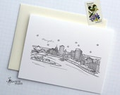 Memphis, Tennessee - United States - City Skyline Series - Folded Cards (6)