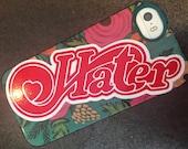 Hater/heart sticker