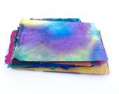 Painted Handmade Paper, Colorful Small Batik Scraps Assortment, Paper Pack, DIY Art Projects, Paper Destash Package
