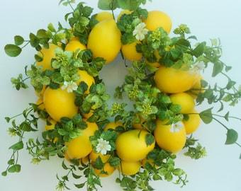 Little Lemon Zest Wreath