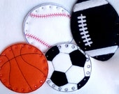 Sport set of lacing cards baseball, basketball, soccor ball, and football learn to sew sewing game educational learning toy