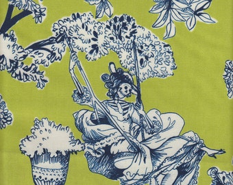 Alexander Henry Nicole's Prints The Romantics in Chartreuse - Half Yard
