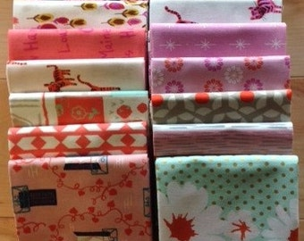 Cotton + Steel Fat Quarter Set in Pink/Coral