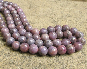 Rare Purple Pink Sapphire Natural 10mm Round Rondelle Beads,