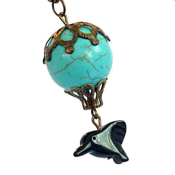Albuquerque Dreams - Turquoise Howlite Hot Air Balloon Necklace Jewelry Jewellery Pendant