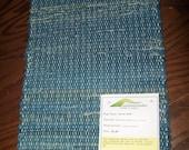 Handmade woven rag runner, (Was My Jeans) -05bj