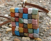 The Patchwork Quilt Mosaic Necklace - Dirt Road South Exclusive Art Jewelry