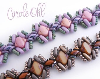 Silky Hugs Bracelet Tutorial by Carole Ohl