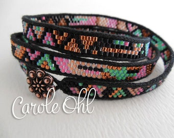 Skinny Wrap Bracelet Tutorial by Carole Ohl