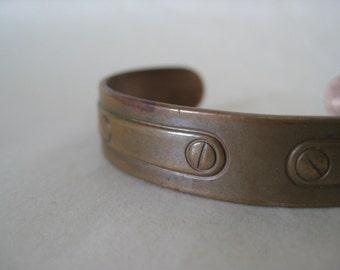 Child Copper Bracelet Cuff Vintage Avon