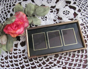 Adorable Vintage Gold Metal Unusual Small Retro Picture Frame