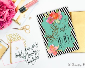 Notecards for Teachers {Printable}: Sparkle & Teach